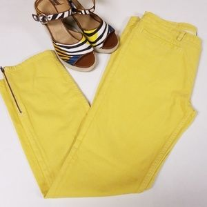 A.P.C. Yellow Ankle Zip Biker Jean Pants size 30